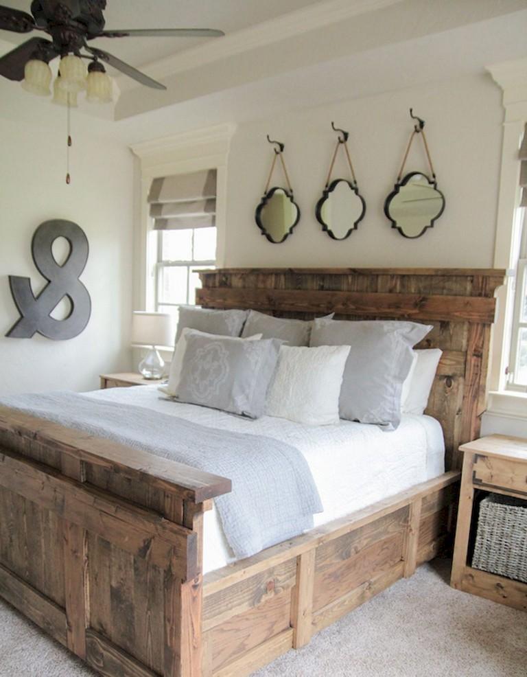 35 Incredible Rustic Farmhouse Master Bedroom Design Decor Ideas