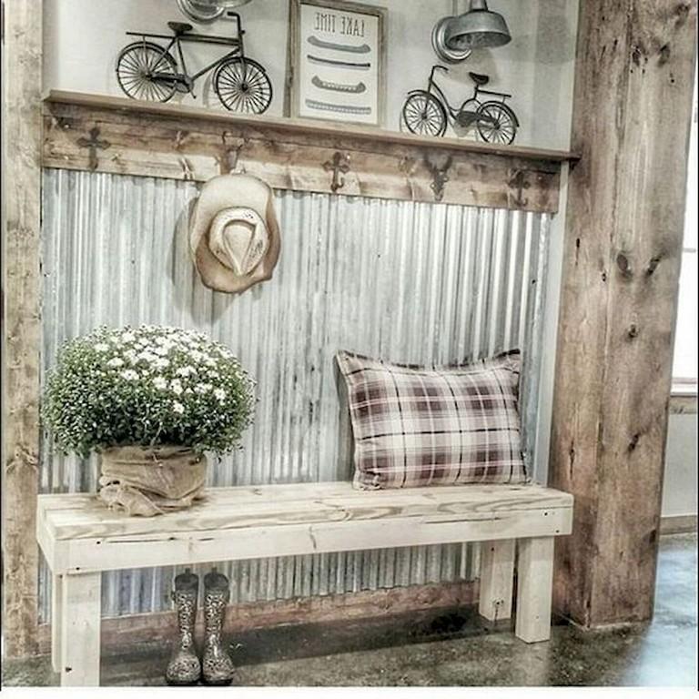 55 Best Home Decor Ideas: 55+ Graceful Rustic Farmhouse Mudroom Decorating Ideas