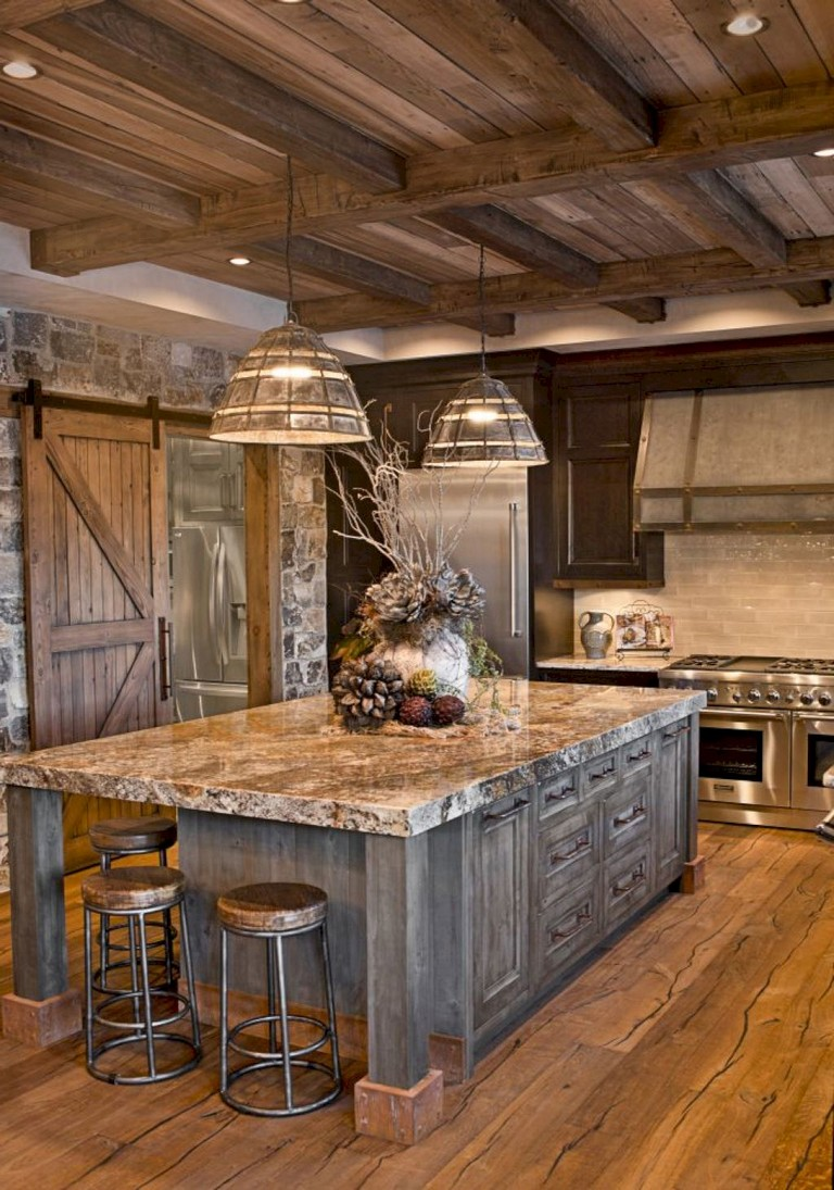 20+ brilliant Rustic Farmhouse Kitchen Island Ideas on Farmhouse Rustic Kitchen  id=18802