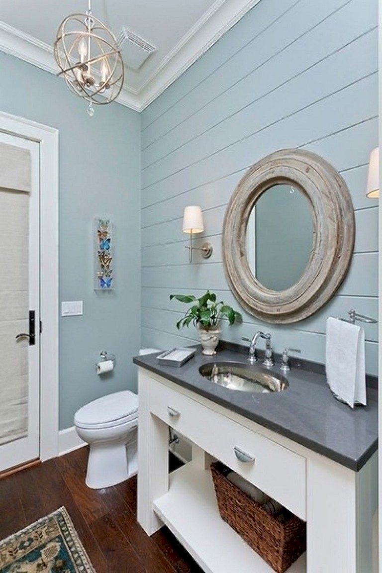 35+ amazing coastral nautical bathroom decor ideas