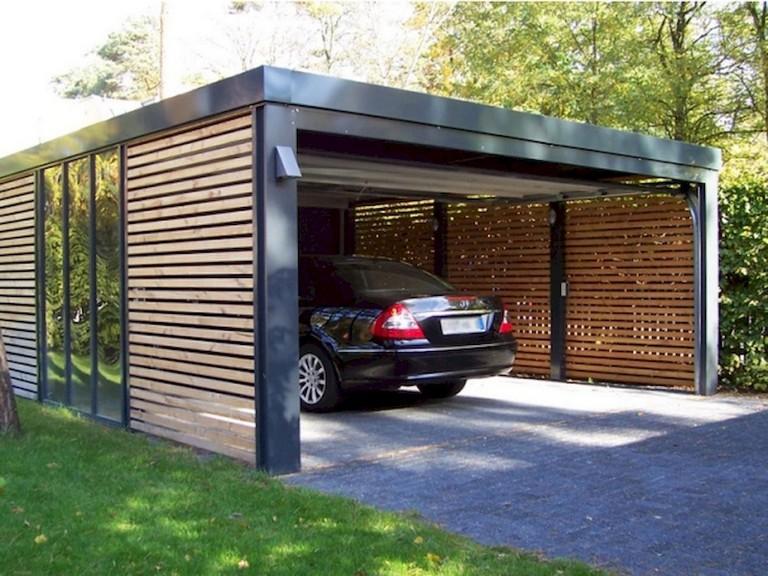 53+ Fascinating Modern Carports Garage Designs Ideas ...