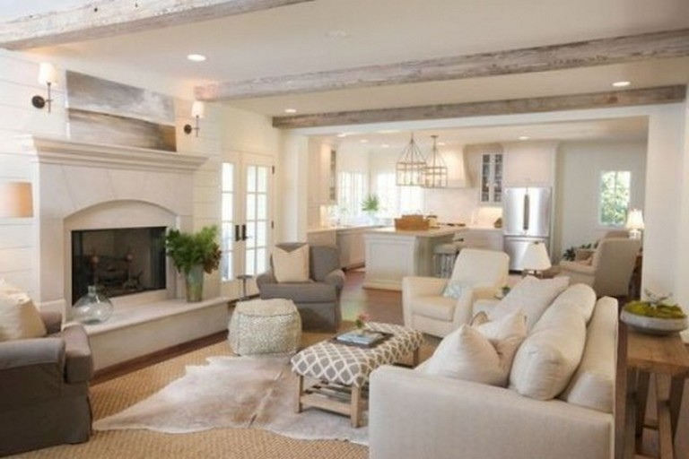 35 Stunning Living Room Design Ideas With Wooden Beams