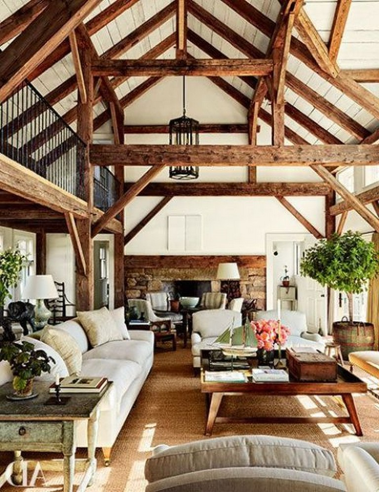 35 Living Room Ideas 2016: 35 Stunning Living Room Design Ideas With Wooden Beams